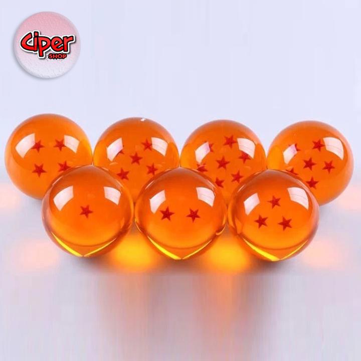 ... 7 viên ngọc rồng - Dragon Ball; Chất liệu: Nhựa; Đường kính: 4.5cm;  Trọng lượng: 450gr; Quy cách: Đóng hộp đẹp và sang trọng